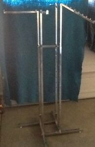 Four way Crome Portable Clothing Rack With Interchangeable Arms