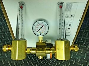Miller Smith Twin Dual Precision Series Flowmeter Regulator