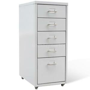 Metal Filing Cabinet With 5 Drawers Gray N8x2