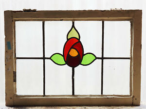Large Antique Stained Glass Window Six 6 Colors Macintosh Rose 3057