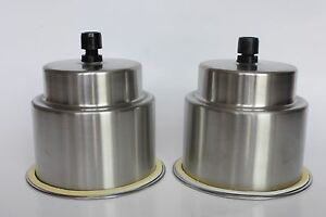 2pcs Stainless Steel Beverage Cup Drink Holder With Drain Marine Boat Car Rv