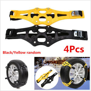 4pc Car Snow Tire Anti Skid Chains Winter Safety Wheel Tyres Chain Ptu Thickened Fits Chevrolet