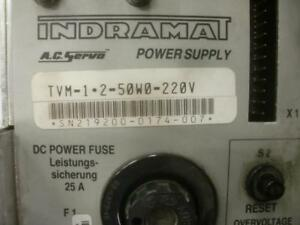 Indramat Servo Power Supply Tvm1 2 50 w0 220v