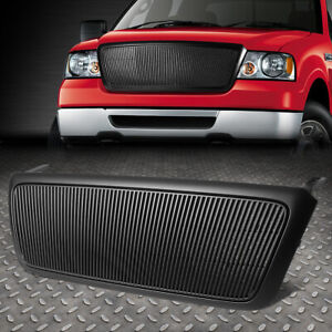 For 2004 2008 Ford F 150 Black Vertical Fence Front Bumper Grille Grill Guard