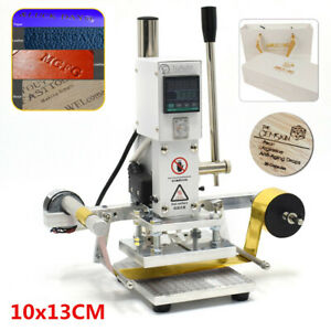 10 13cm Hot Foil Stamping Machine Automatic Leather Craft Press Embossing 220v