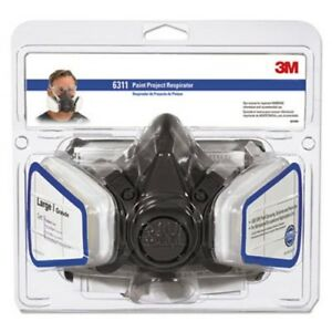 3m Half Facepiece Paint Spray pesticide Respirator Large mmm6311pa1a