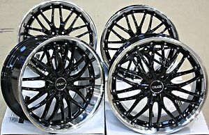 Alloy Wheels 18 Cruize 190 Bp Deep Dish Load Rated Staggered Black Diamond Cut