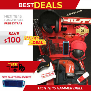 Hilti Te 15 Rotary Hammer Preowned Free Bluetooth Speaker Extras Quick Ship