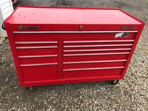 Snap On Classic 78 Roll Cab Tool Box Kra2411pbo Red Cabinet Drawers Chest Kra 96