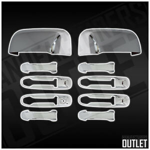 2002 2008 Dodge Ram 2500 4dr Chrome Door Handle Side Mirror Cover Trim