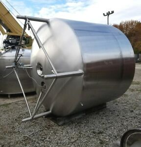 Used Approx 2 000 Gallon Vertical Stainless Steel Jacketed Mix Tank