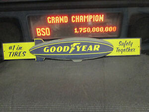 Goodyear Blimp 1 Tires Metal Sign Auto Shop Vintage Look Gas Station Dodge Ford