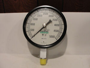 Enerpac Mod 30 002 Pressure Gauge 0 5 000 Psi Bottom Mount 5 1 2 Dia Face