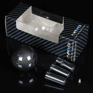 Nrg Aluminum Ball Style Weighted 5 6 speed Gear Shifter Shift Knob Carbon Fiber