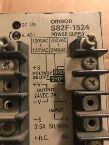 Used Omron S82f 1524 Power Supply Module 24vdc 7a