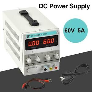 Lab Adjustable Dc Power Supply Precision Variable Digital Voltage 0 5a 0 60v Us