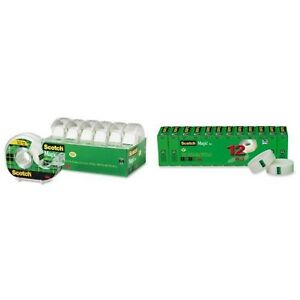 Scotch Magic Tape And Refillable Dispenser 3 4 X 650 Inches 6 pack 6122 And