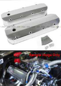 For Chevy Bbc 454 Fabricated Aluminum Valve Covers Polished 427 Big Block 396