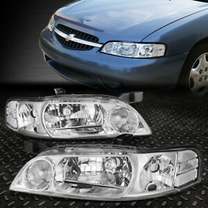 For 00 01 Nissan Altima Clear Housing Clear Corner Headlight Replacement Lamps