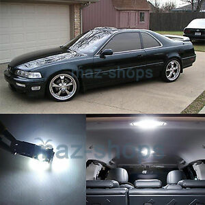 White 13 Pieces Interior Lights Package Led Bulbs Fit Acura Legend Coupe 91 95