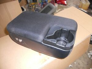 1998 2004 Ford Ranger Center Console W Cup Holder Black Oem 98 99 00 01 02 03 04
