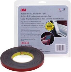 Automotive Attachment Tape Gray 1 2 In X 10 Yds 90 Mil 3m 6394 Brand New