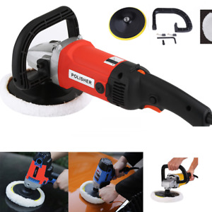 1400w 6 Speed Electric Car Polisher Buffer Auto Polishing Machine W Bonnet Pad