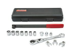 Serpentine Belt Tool Set W locking Flex Head Ratching Wrench Kdt 89000 New