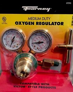 Forney 87090 Oxygen Regulator Compatible With Victor Style Products