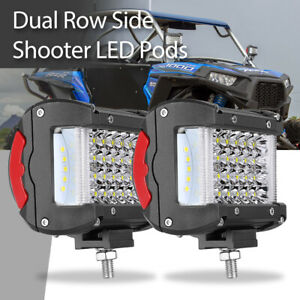 4in 200w Cube Led Pods Work Driving Light Bar Spotlight Boat Atv Offroad Ute 12v