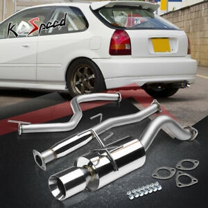 For 96 00 Honda Civic 3dr Ej6 ek9 4 Rolled Tip Muffler Catback Exhaust System