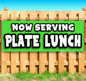 Now Serving Plate Lunch Advertising Vinyl Banner Flag Sign