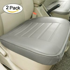 Edge Wrapping 2pc Car Front Seat Cushion Cover Pad Mat Auto Chair Pu