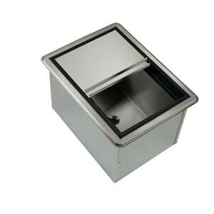 Krowne Metal D278 20 Drop in Ice Bin W 50 Lb Ice Capacity