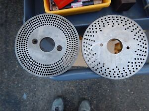 Index Plates For Dividing Head Or Rotary Table 3 Pcs