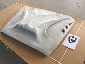 Monster Beast Front Fiberglass Hood With Scoop Vents For Jeep Wrangler Jk Jku