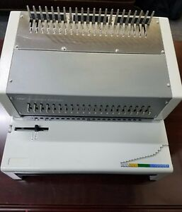 Gbc Combbind C800pro Electric Plastic Comb Binding Machine used