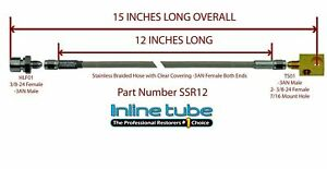 Stainless Steel Braided Rear Brake Hose 3 16 Tube With Tee 3an 3an 15 Long