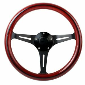1965 1966 1967 1968 1969 Mustang Mahogany Split Spoke Steering Wheel Kit