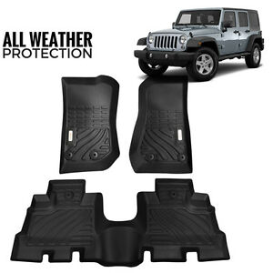 2007 2017 Jeep Wrangler Jk Sahara Sport All Weather Protection Floorliner Mats