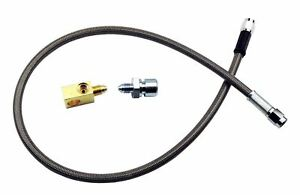 Stainless Steel Braided Rear Brake Hose 1 4 Tube With 3 16 Tee 3an 3an 27 Long
