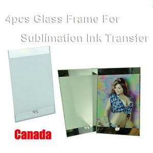 4pcs 15x23cm Blank Glass Photo Picture Frame Sublimation Diy Craft Transfer