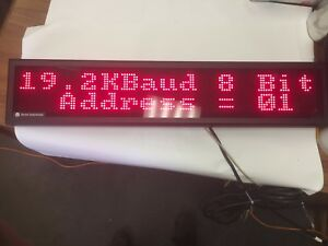 Vorne Industries M1000 120x Led Visual Text Display Advertisement Message Board