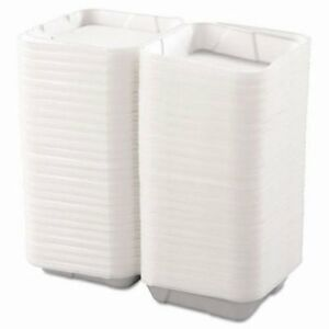 Boardwalk Hinged Carryout Containers Foam 1 compartment White bwk0100