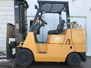 Caterpillar Cushion Gc40k 8000lb W 4 Way Hydraulic Forklift Lift Truck