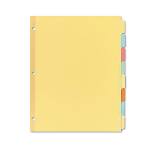 Avery Write on Plain tab Dividers 8 tab Letter 24 Sets 11509