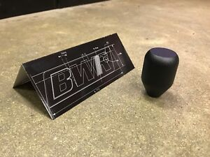 Blackworks Racing M12x1 25 Aluminum Shift Knob Wrinkle Black Toyota Subaru