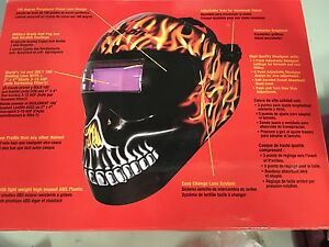 Snap on Welding Helmet Code Red
