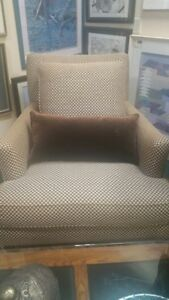 Pair Of Henredon Upholstered Arm Chairs