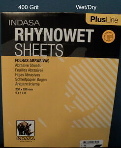 Indasa Plus 9x11 400 Grit Wet dry Sandpaper 50 Sheets 1 400 Free Ship